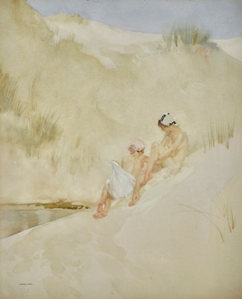 In a Shady Hollow by Sir William Russell Flint