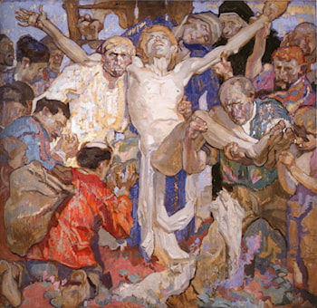 Preliminary colour sketch for a 'Deposition of Christ' by Sir Frank Brangwyn, R.A.