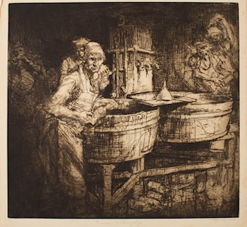 Washing Bottles by Sir Frank Brangwyn, R.A.