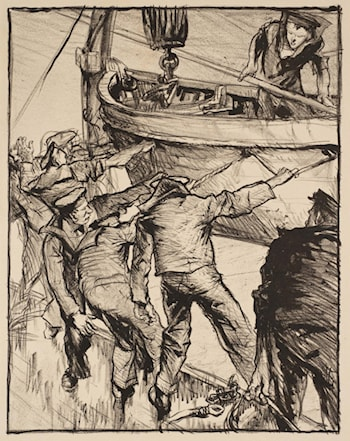 Making Sailors: Boatdrill by Sir Frank Brangwyn, R.A.