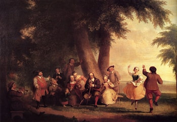 The Dance Of The Battery In The Presence Of Peter Stuyvesant by Asher Brown Durand
