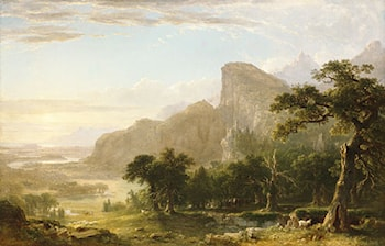 "Landscape­­Scene from ""Thanatopsis"" by Asher Brown Durand"