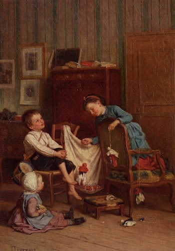 The Puppet Show by Theophile-Emmanuel Duverger