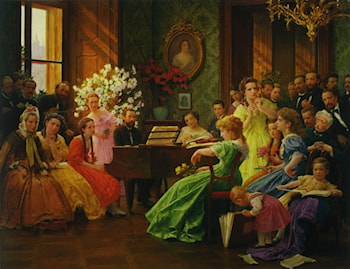 Smetana and his Friends in 1865 by Franz Dvorak