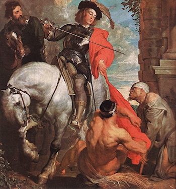 St Martin Dividing his Cloak by Sir Antony van Dyck