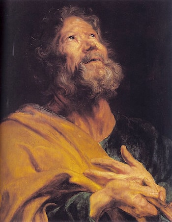 The Penitent Apostle Peter by Sir Antony van Dyck