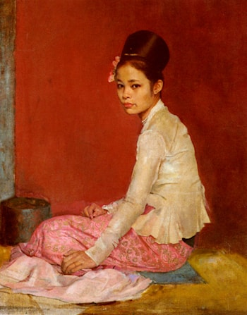 Burmese Silk by Sir Gerald Kelly