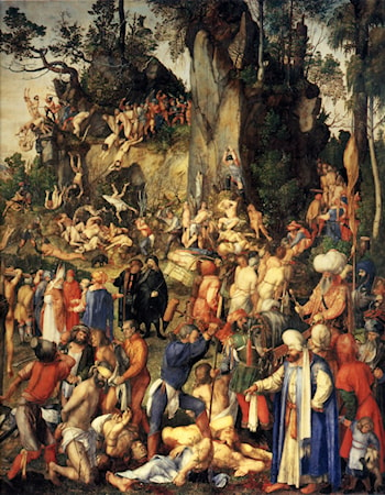 Matyrdom of the Ten Thousand by Albrecht Durer