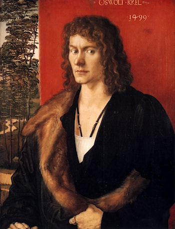 Portrait of Oswald Krel by Albrecht Durer