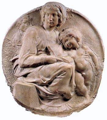 Madonna (Tondo Pitti) by Michelangelo