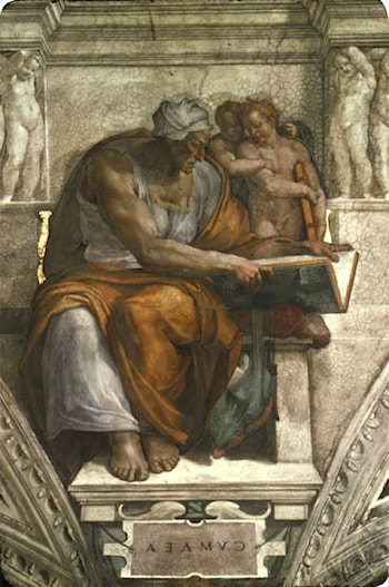 The Sibyl of Cumae by Michelangelo