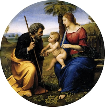 The Holy Family with a Palm Tree by Raphael