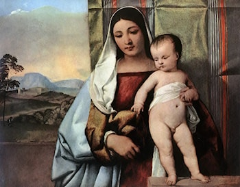 Gipsy Madonna by Titian