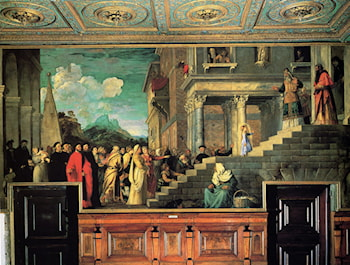 Entry of Mary into the temple by Titian