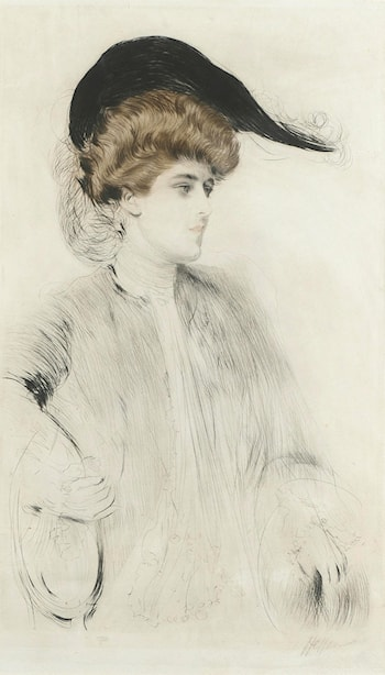 Consuelo Vanderbilt, Duchess of Marlborough by Paul Cesar Helleu