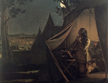 The Night before Naseby by Augustus Leopold Egg