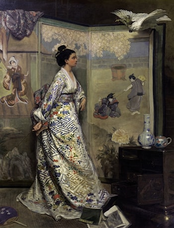 The Japanese Fan by Gustave Leonhard de Jonghe