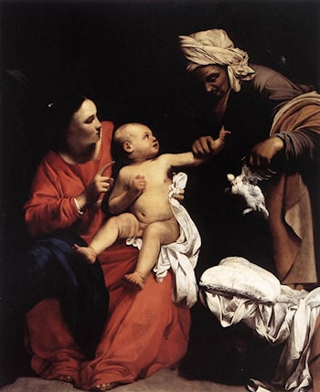 Madonna and Child with St Anne by Carlo Saraceni