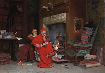 The Committee on Moral Books by Jehan Georges Vibert