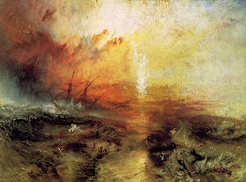 Slavers Throwing Overboard the Dead and Dying - Typhoon Coming On by Joseph Mallord William Turner