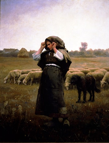 Shepherdess and her Flock by Daniel Ridgway Knight