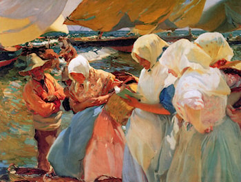 Fisherwomen on the Beach by Joaquin Sorolla y Bastida