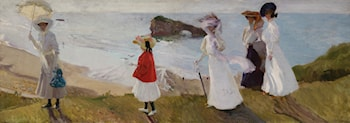 Lighthouse Walk at Biarritz by Joaquin Sorolla y Bastida