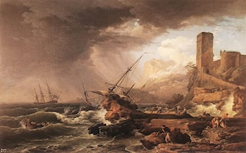 Storm with a Shipwreck by Claude-Joseph Vernet