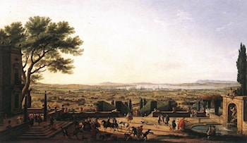 The Town and Harbour of Toulon by Claude-Joseph Vernet