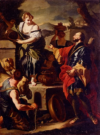 Rebecca And Eliezer At The Well by Francesco Solimena