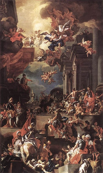 The Massacre of the Giustiniani at Chios by Francesco Solimena