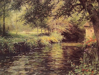 A Sunny Morning at Beaumont­Le Roger by Louis Aston Knight
