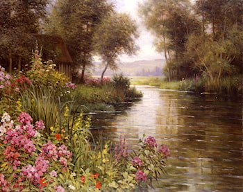 Fleur au bord de la Riviere by Louis Aston Knight