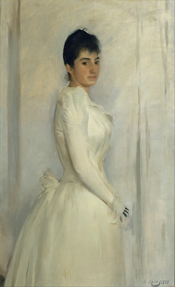 Lady in White by Ramon Casas
