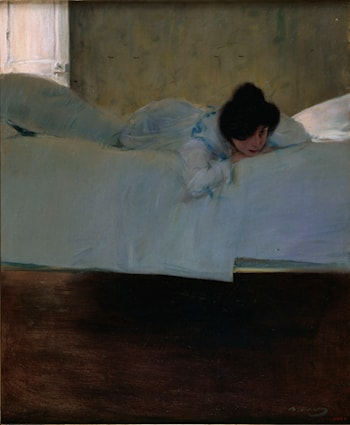 On the Bed by Ramon Casas