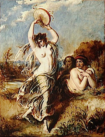 Bacchante Playing the Tambourine by William Etty