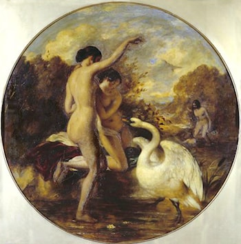 Female Bathers Surprised by a Swan by William Etty
