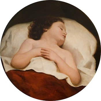 A Child Asleep by William Etty