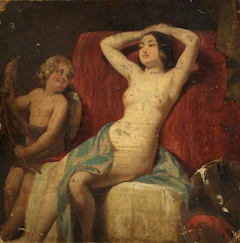Venus and Cupid (verso) by William Etty