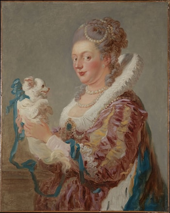 A Woman with a Dog by Jean-Honore Fragonard