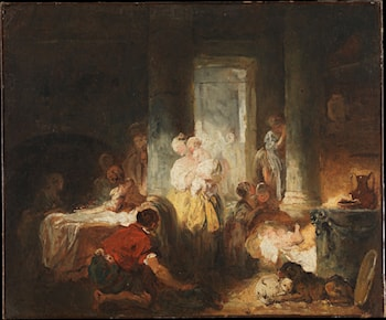 Roman Interior by Jean-Honore Fragonard