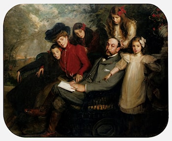 The Poet Francis Viele­Griffin And His Family by Jacques Emile Blanche