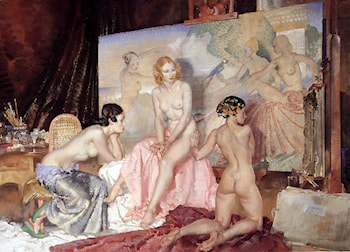 Models For Olympians by Sir William Russell Flint