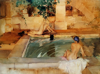 Gleaming Limbs And Cool Waters by Sir William Russell Flint