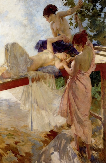 The Painted Bridge by Sir William Russell Flint