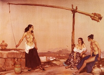Disputation at the Well by Sir William Russell Flint