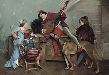 The Minstrel's Song by Louis Robert Carrier-Belleuse