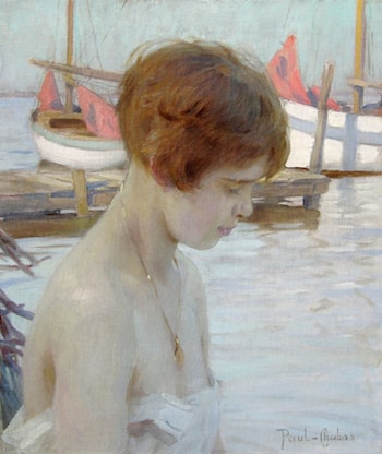 Young Girl at Harbor by Paul Emile Chabas