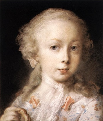 Young Lady of the Leblond Family. by Rosalba Carriera