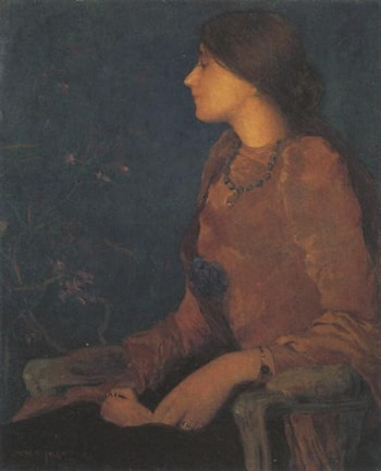 Portrait of Thadee Caroline Jacquet by Edmond Aman-Jean